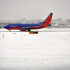 Picture of Southwest Airline plane as it landed in Seattle.