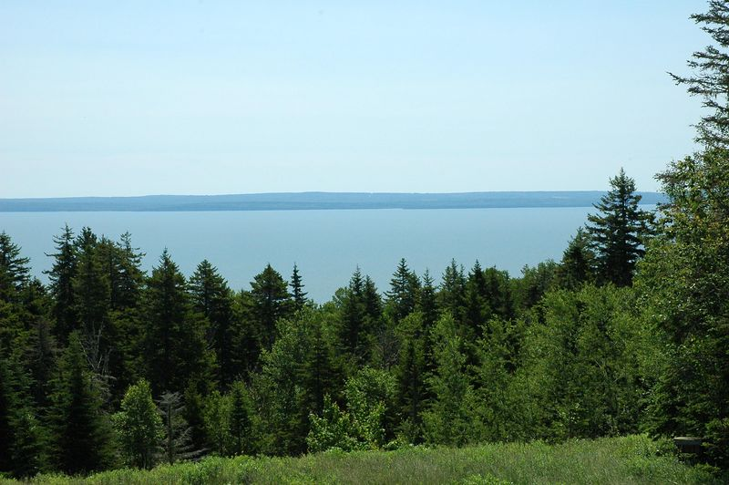 View from the drive to Fundy National Park.  Nova Scotia is in the distance.
