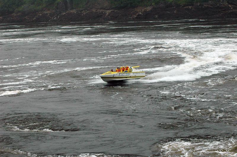 Saint Johns.  Reversing Falls.  Jet boat rides