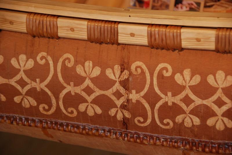 Detail on the canoe.