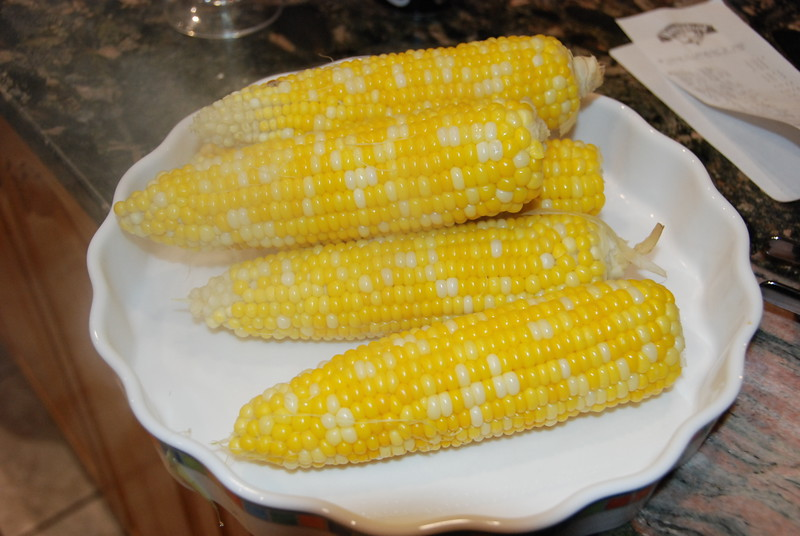 Corn on the cob is a MUST for a lobster feed.