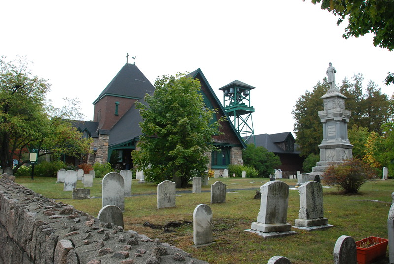 Cemetery outside the church.