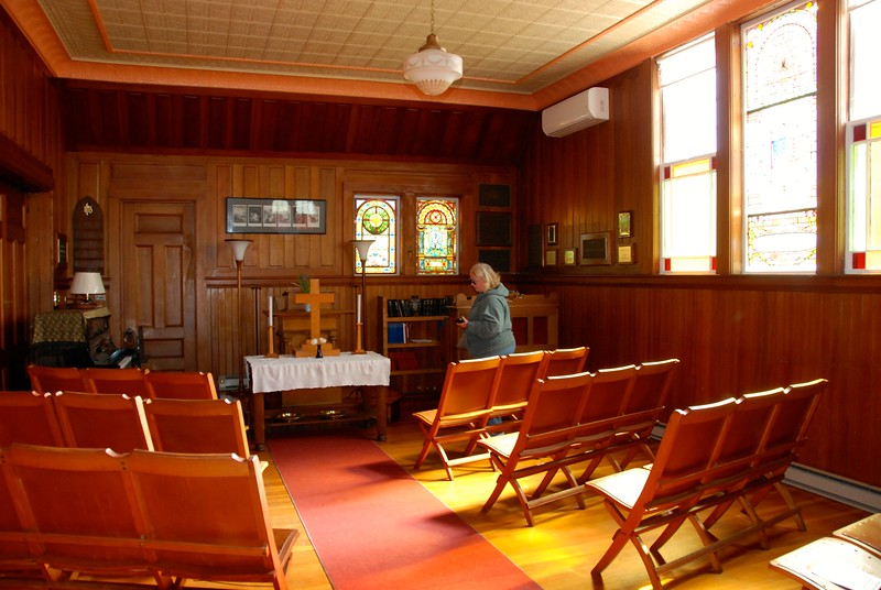 This is the chapel they use in winter. Only 75 people live on the island year-round.