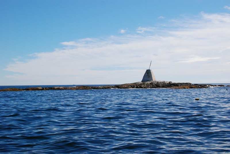 Memorial monument in the harbor.