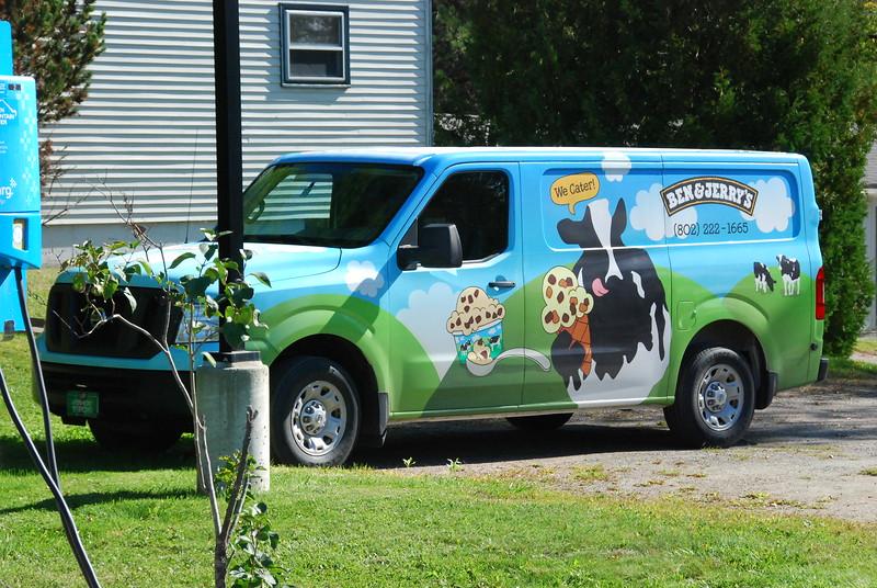 Tour of Ben & Jerry's factory. Here's their van.