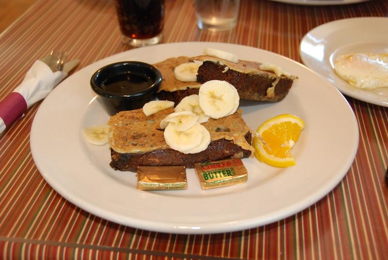 Banana bread french toast. YUM!!!!