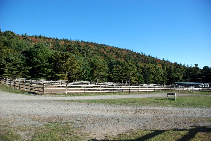 Horse corral.