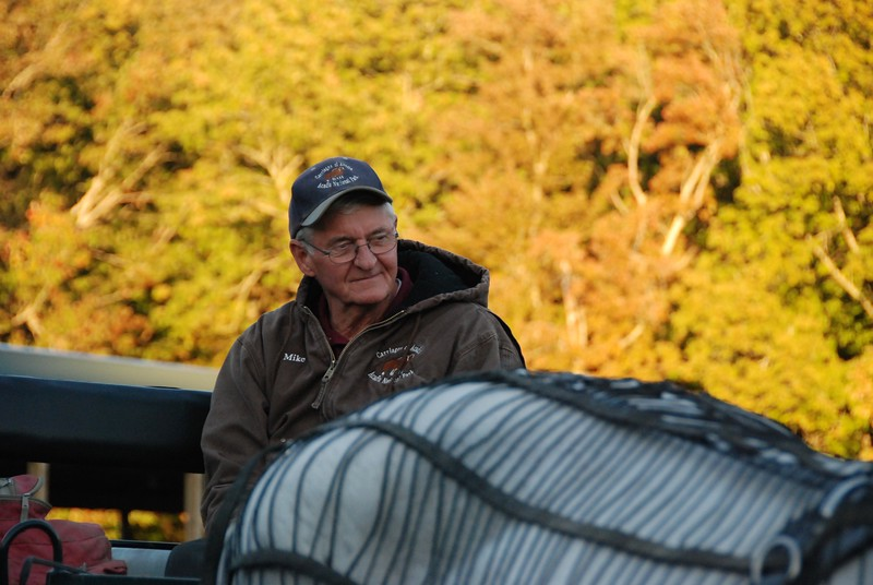 Mike, carriage ride, Acadia National Park, October 2016.