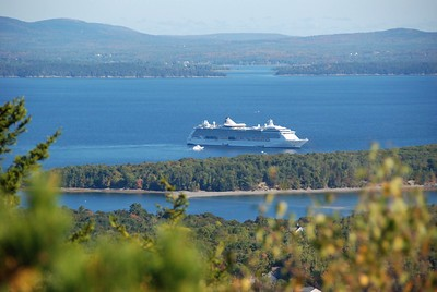 View from the top: Cruise ship.