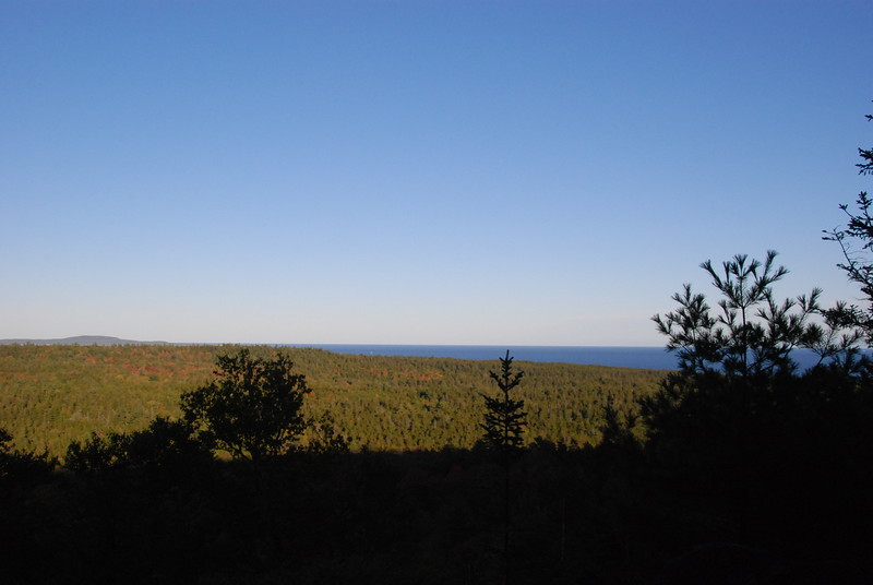 View of the ocean from the trail.