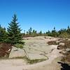 Granite plateaus at the top.