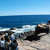 Thunder Hole, where you hear the thunder of the waves against the rocky coast.
