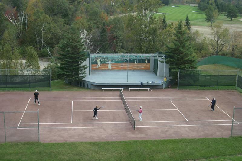 Tennis Courts at The Mt. Washington Hotel, Mt. Washington, N.H.