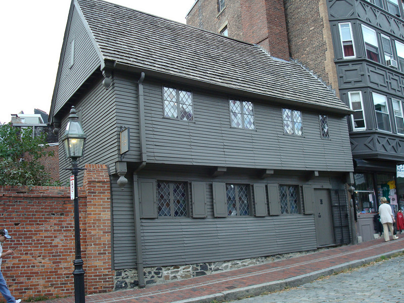 Paul Revere's home in the North End neighborhood of Boston.