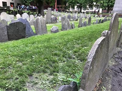 Tombstones @ Granary Burying Ground, Boston