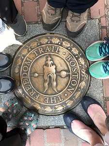 Our Feet @ Freedom Trail Marker