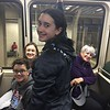 Brendan, Cristen, Grace, & MaryAnne on the MBTA Subway