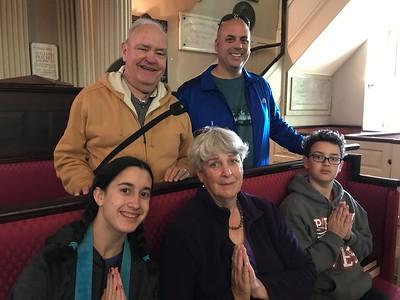 David, John, Grace, MaryAnne, & Brendan @ King's Chapel, Boston