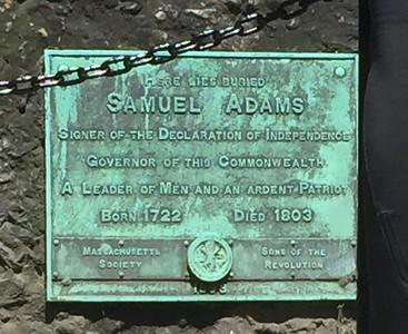Tombstone of Samuel Adams @ Granary Burial Ground, Boston