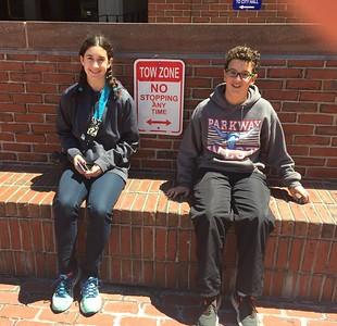 Grace and Brendan near Boston City Hall