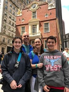 Grace, John, Cristen & Brendan @ Old State House, Boston