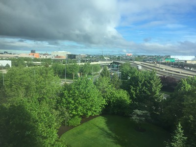 Morning view from Room @ Hilton Boston Logan Airport