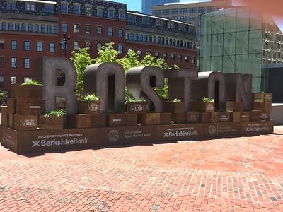 Boston Statue near Boston City Hall