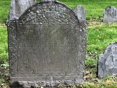 Tombstone of Elijah Doublede @ Granary Burial Ground, Boston