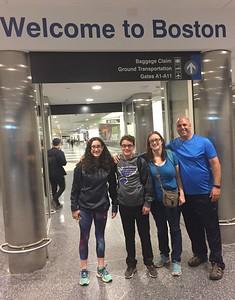 Grace, Brendan, Cristen & John Arrived @ Logan Field [BOS]