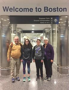 David, Grace, Brendan, & MaryAnne Arrived @ Logan Field [BOS]