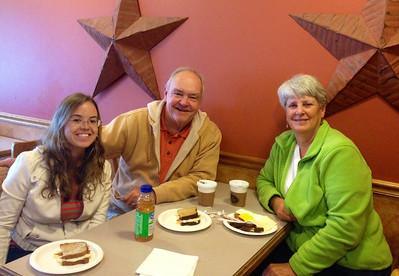 "Liisa, David &, MaryAnne @ ""MaryLou's Coffee"" in Abington"