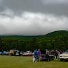 Antique Car Show on a Rainy Day