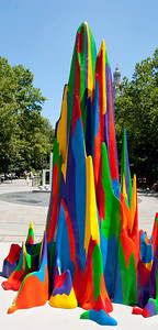 Nice colors on the sculpture, this was the entrance to City Hall Park