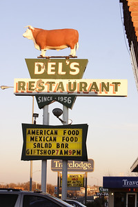 We ate at Del's Restaurant.  The American and Mexican food were good.  The salad bar left a little to be desired.  :-)