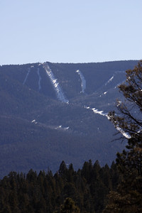 The not-so-snowy slopes in Angle Fire.