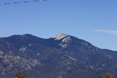 The mountains of Taos.