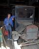 Jacki Standing Beside Old Truck in the Coal Mining Museum in Madrid, NM