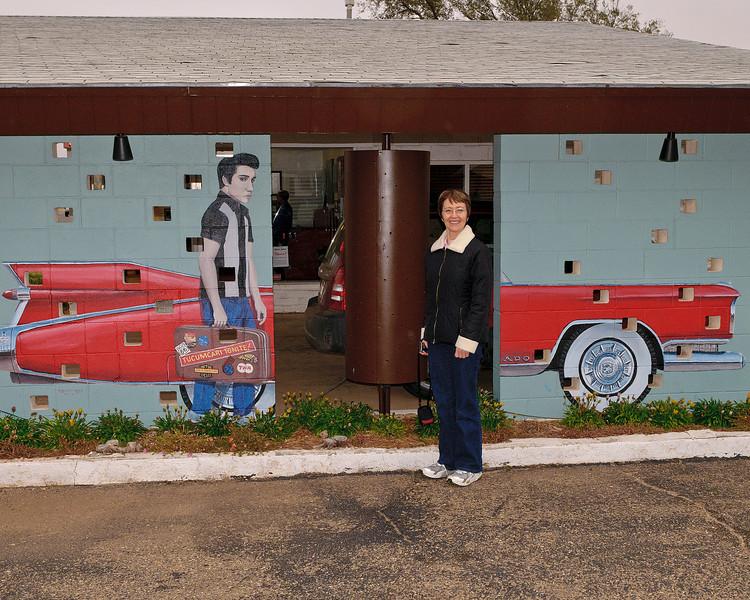 Jacki Meets Elvis at the Safari Motel in Tucumcari
