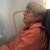 MaryAnne Napping on Southwest Flight Home