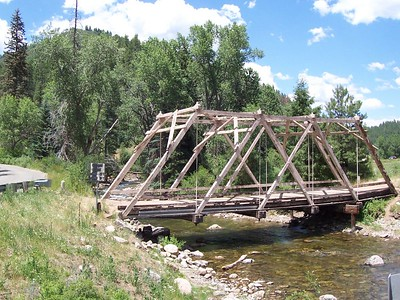 Sunday we rode up Hwy 63 from Pecos to Cowles. This old bridge was along the way.