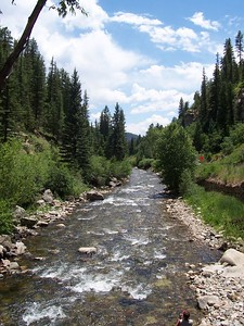 Pecos River, north of Pecos, NM. Hwy 63 follows this river up into the mountains.