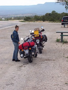 A rest stop just before getting to Glorieta.