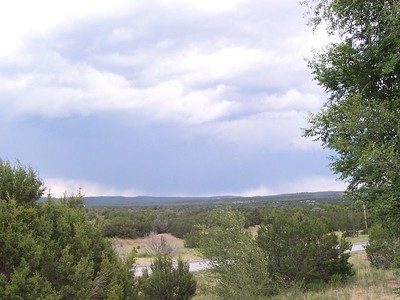 We rode directly under this storm coming into Las Vegas, NM, but didn't get a drop of rain on us.