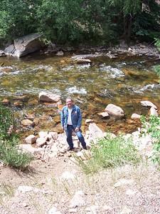 Chris checks out the Pecos River.