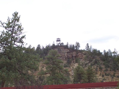 Day 3 - We hiked up to this forest service fire tower above Ruidoso.