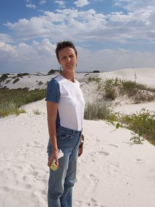 Day 4 - Caroline on the dunes.