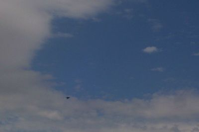Day 4 - A Stealth Fighter shoots through the sky. Holloman Air Force Base is adjacent to White Sands.