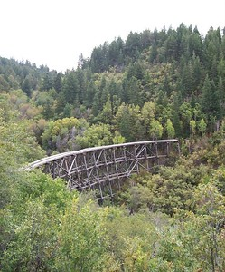 Day 4 - An abandoned rail bridge on Hwy 82, down the mountain from Cloudcroft.