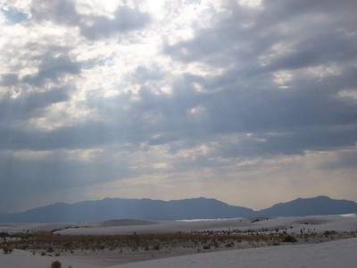 Day 4 - White sand and sun rays through the clouds created amazing displays of light and shadows.