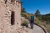 Jacki at Bandelier Ruins